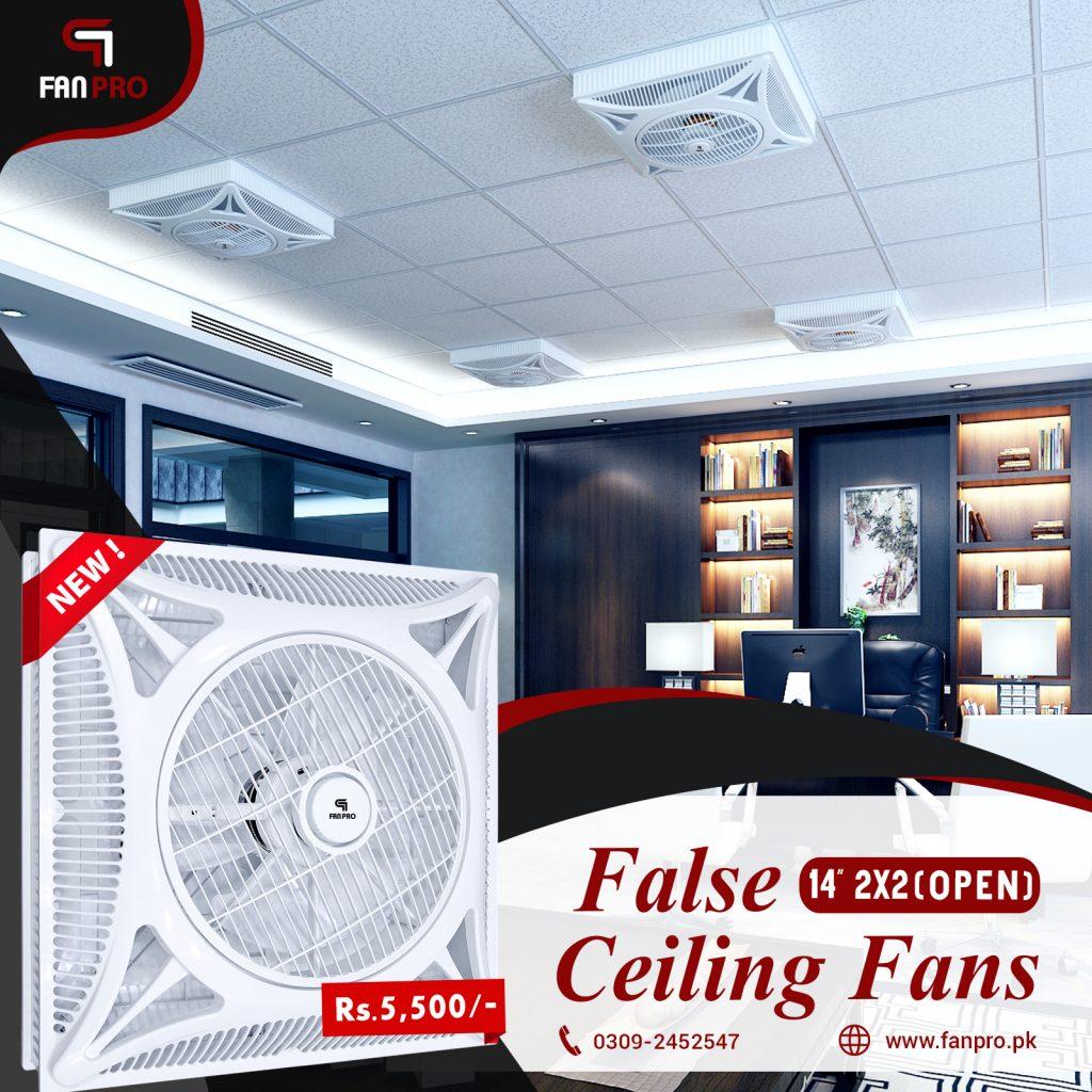 False Ceiling Fans Open